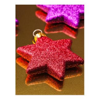 Stars shining of Christmas Postcard