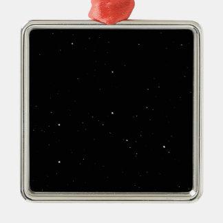 Stars Silver-Colored Square Decoration