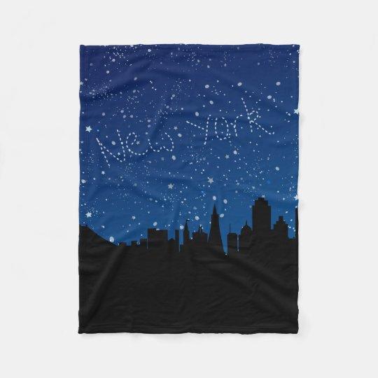 Stars, Skyline, New York Fleece Blanket