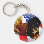Stars Spangled Puppy Keychains
