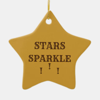 Stars Sparkle Christmas Ornament