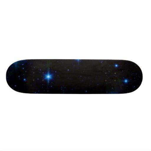 stars, stars 21.6 cm old school skateboard deck