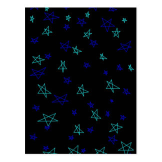 Stars stars more stars postcard