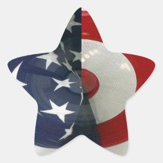 STARS & STRIPES ( abstract ) Star Sticker