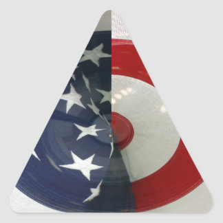 STARS & STRIPES ( abstract ) Triangle Sticker