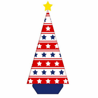 Stars & Stripes Christmas Tree Hanger Photo Cut Outs