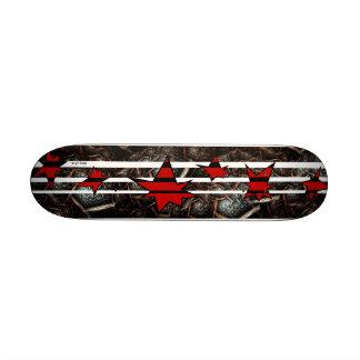 STARS STRIPES EARTH TEXTURE Mini Deck Skateboard