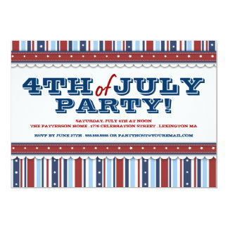 Stars & Stripes Festive 4th of July Party Card