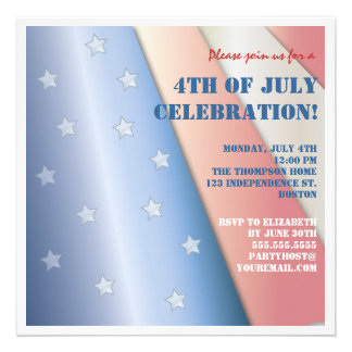 Stars & Stripes Flag 4th of July Party Invitation