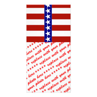 Stars & Stripes of Red White And Blue Picture Card