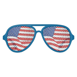 Stars Stripes of the US Flag for Patriots Sunglasses