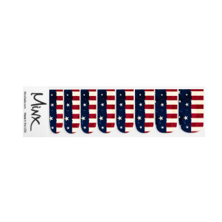 Stars & Stripes Patriotic Fingernail Transfer