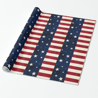 Stars & Stripes Patriotic Pattern Wrapping Paper