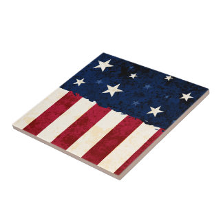 Stars & Stripes Patriotic Tile