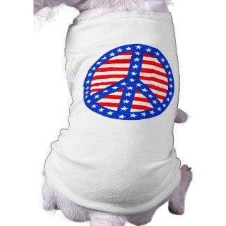 Stars & Stripes Peace Sign Pet Clothing
