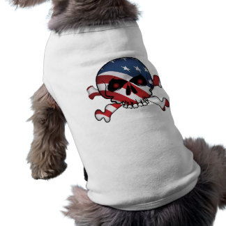 Stars & Stripes Skull Sleeveless Dog Shirt
