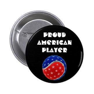 Stars Stripes Tennis Ball -Proud American Player Pin