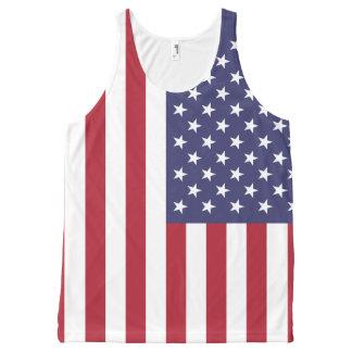 Stars & Stripes USA Flag All-Over Print Tank Top