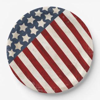Stars & Stripes USA Flag Paper Plate