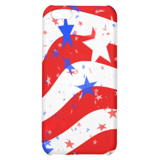 STARS & STRIPES WAVY iPhone 5C COVER