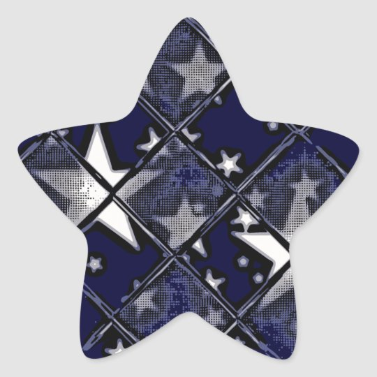 STARS THROUGH GLASS STAR STICKER