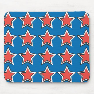 Stars with Blue Background Mouse Mat