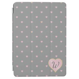 Stars Within Hearts on Gray iPad Cover
