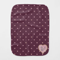 Stars Within Hearts on Port Burp Cloth