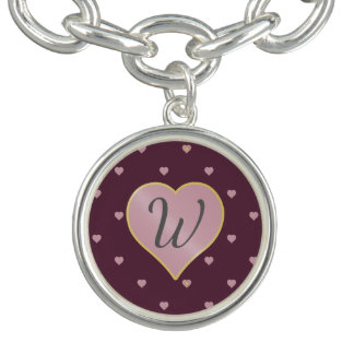 Stars Within Hearts on Port Charm Bracelet
