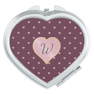 Stars Within Hearts on Port Compact Mirror