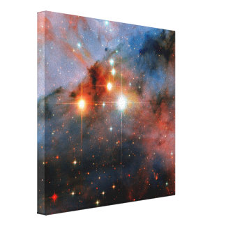 Stars WR 25 & Tr16-244 in Carina Nebula Gallery Wrapped Canvas
