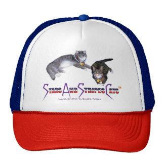 StarsAndStripesCats Hats, trucker Cap