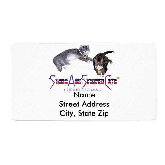 StarsAndStripesCats Mailing Labels