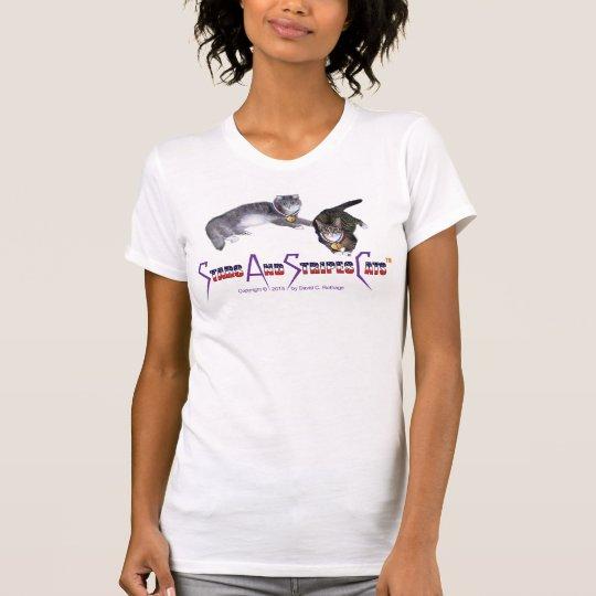 StarsAndStripesCats Women's T-shirts, fine jersey T-Shirt