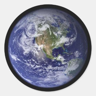 Starship Earth Classic Round Sticker