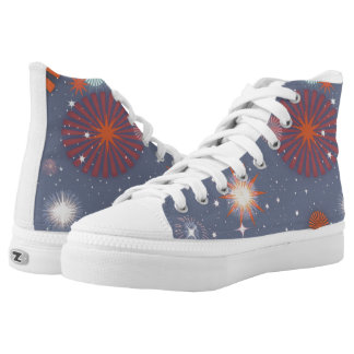 Starstruck High Top Shoes, grey Printed Shoes