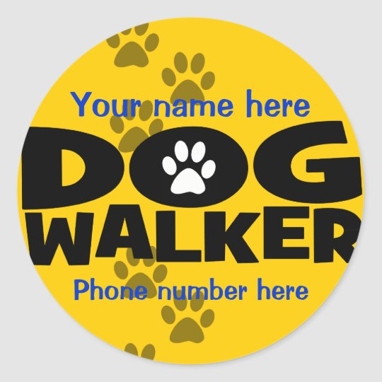 Start a dog walking business classic round sticker