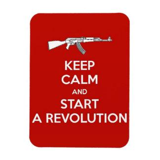 start a revolution rectangular photo magnet