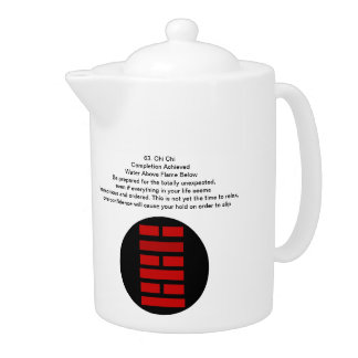Start and Finish I Ching Tea Pot