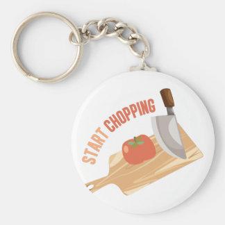 Start Chopping Basic Round Button Key Ring