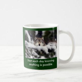 Start each day basic white mug