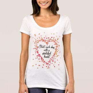 Start each Day Grateful Heart Inspirational quote T-Shirt