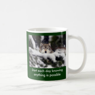 Start each day basic white mug