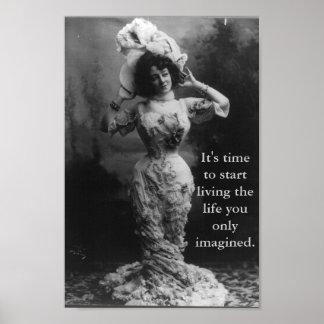 Start Living Life Poster