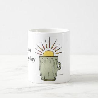 Start my day cup basic white mug