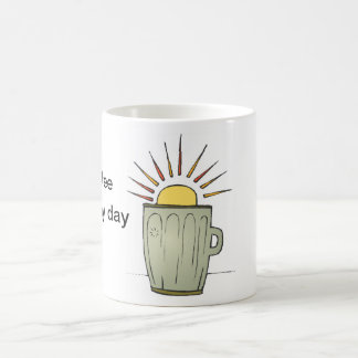 Start my day cup basic white mug