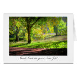 Start of Autumn / Fall - Luck with New Job Greeting Cards