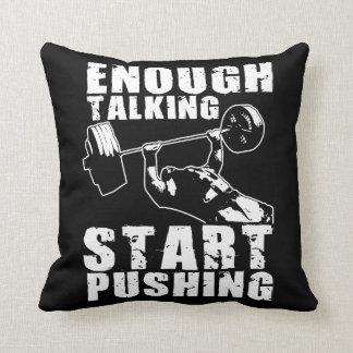 Start Pushing - Bench Press - Workout Motivational Cushions