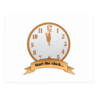 Start The Clock Post Card