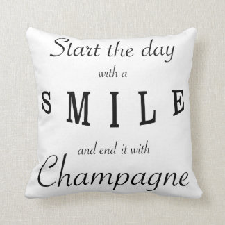 Start The Day With A Smile Phrase Pillow